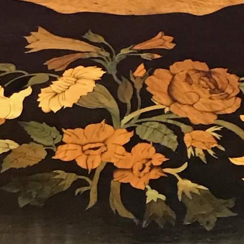 Decorative Inlaid Walnut Three Tier Occasional Table image-6
