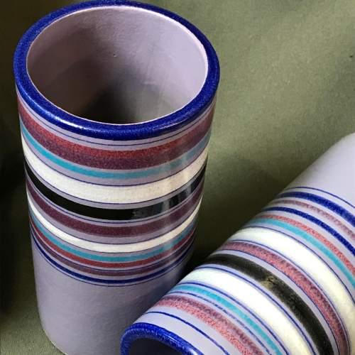 Pair of Italian Bitossi Cylinder Vases image-3