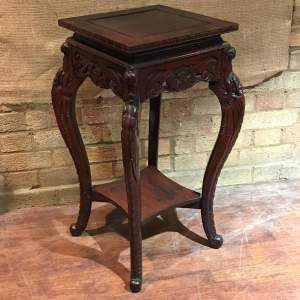 Early 20th Century Large Oriental Carved Wood Stand