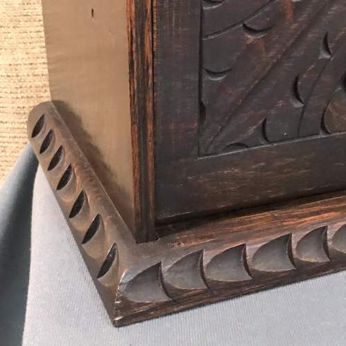 Carved Oak Fall Front Smokers Cabinet image-5