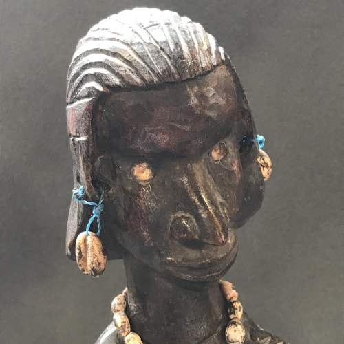 An African Carved Wooden Fertility Figure image-4