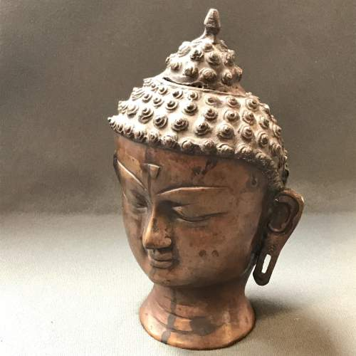 Chinese Bronze Buddha Head image-1
