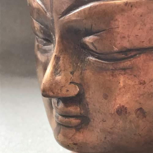 Chinese Bronze Buddha Head image-3