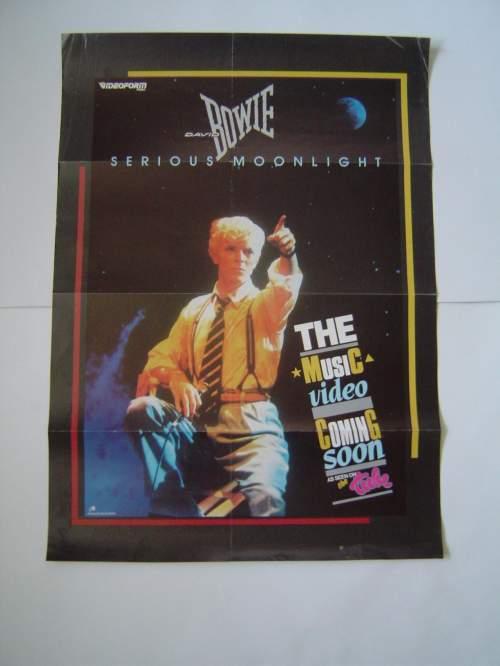 David Bowie Serious Moonlight Original UK Record Company Poster image-2