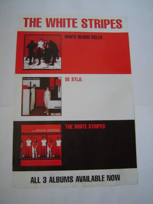 Five Different  The White Stripes Original Advertising Posters image-3