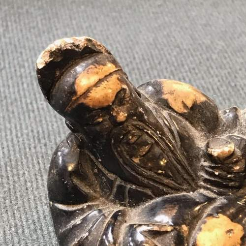 Small Chinese Carved Soapstone Figure of a Bearded Sage image-2