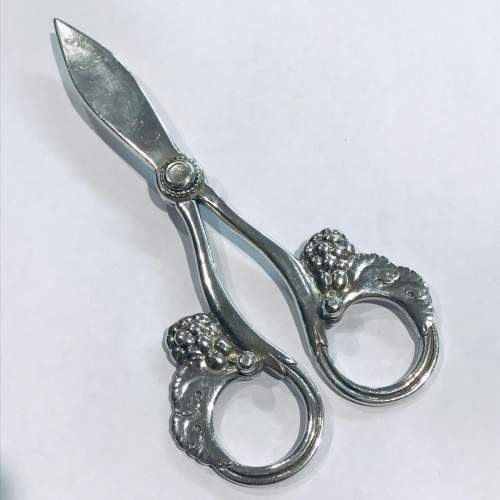 Pair of Georg Jensen Silver Grape Shears image-1