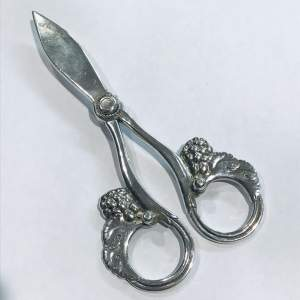Pair of Georg Jensen Silver Grape Shears