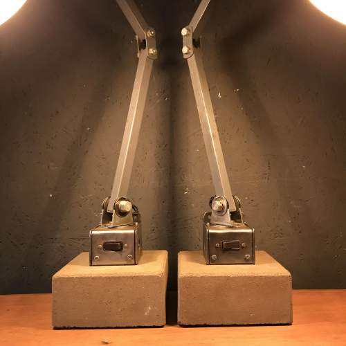 Pair of Memlite Machinists Lamp with Original Switch and Remounted image-2