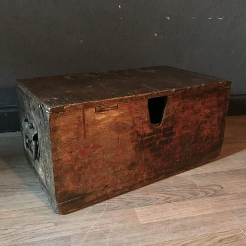Pine Military Battery Box Trunk - P&G and E.P.S Co Ltd Dated 1950 image-1