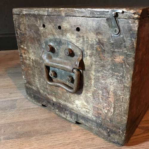 Pine Military Battery Box Trunk - P&G and E.P.S Co Ltd Dated 1950 image-3