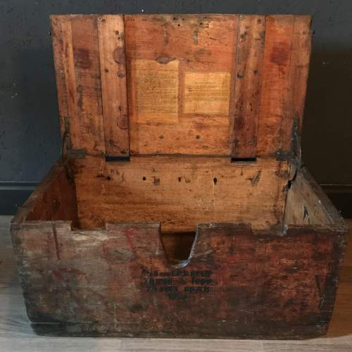 Pine Military Battery Box Trunk - P&G and E.P.S Co Ltd Dated 1950 image-4