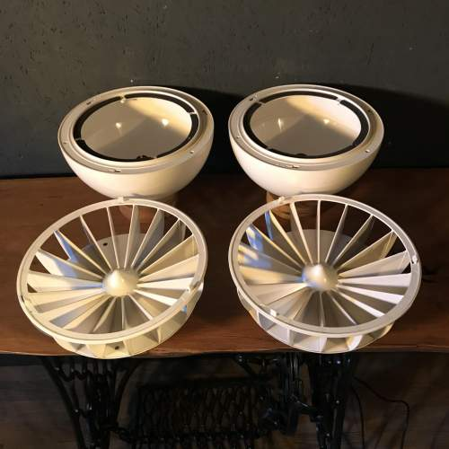 A Unique Pair of White Retro Lamps Repurposed from Speakers image-6