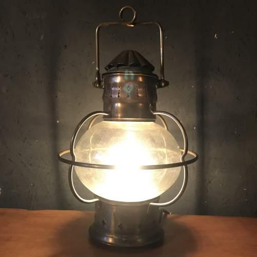 Vintage Brass Ships Onion Lamp image-1