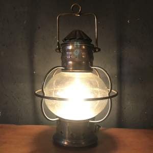 Vintage Brass Ships Onion Lamp