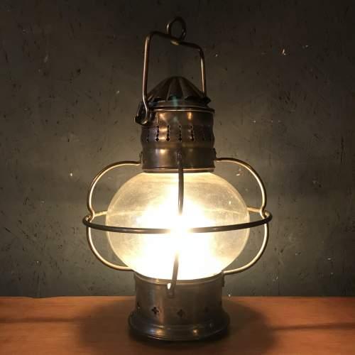 Vintage Brass Ships Onion Lamp image-2