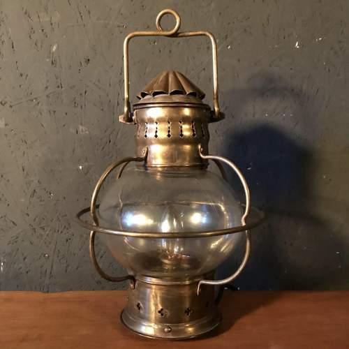 Vintage Brass Ships Onion Lamp image-3