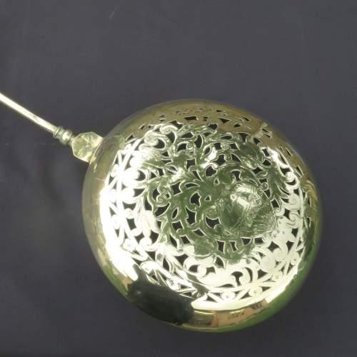 17th Century Dutch Brass Bed Warming Pan image-2