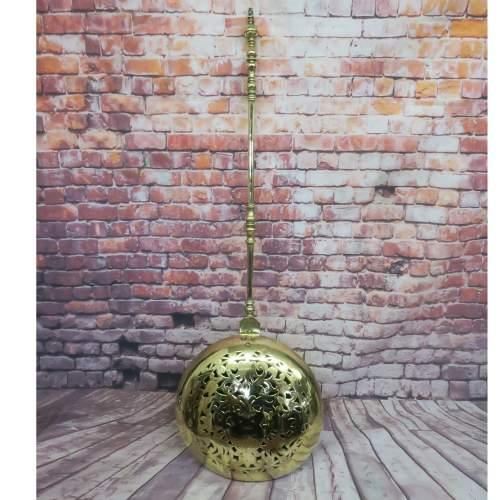 17th Century Dutch Brass Bed Warming Pan image-1