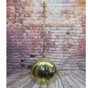 17th Century Dutch Brass Bed Warming Pan