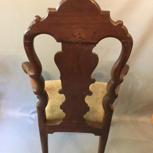 A Dutch Carved Walnut And Marquetry Armchair Circa 19th Century image-5