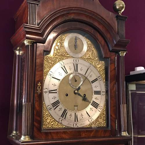 Early 18th Century London Mahogany Longcase Clock image-1