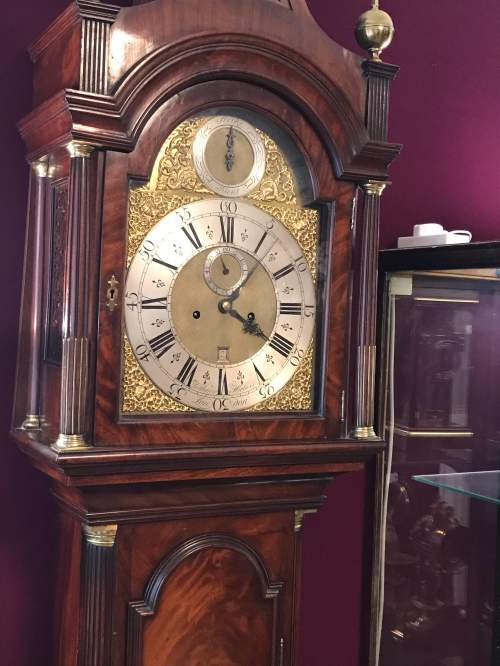 Early 18th Century London Mahogany Longcase Clock image-5