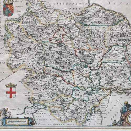 Mid 17th Century Early Map of Yorkshire image-2