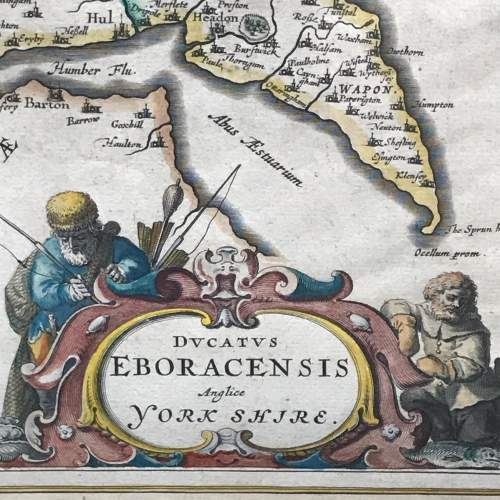 Mid 17th Century Early Map of Yorkshire image-3