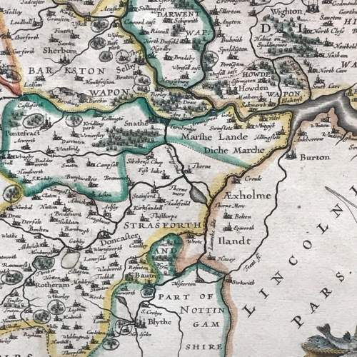 Mid 17th Century Early Map of Yorkshire image-5
