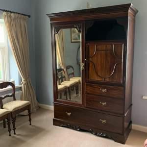 Late Victorian Mahogany Combination Wardrobe