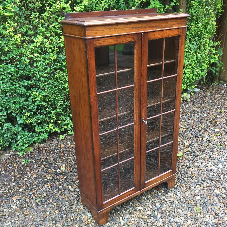 lowest price 5e93b d3fc7 1930s Oak Two Door Bookcase