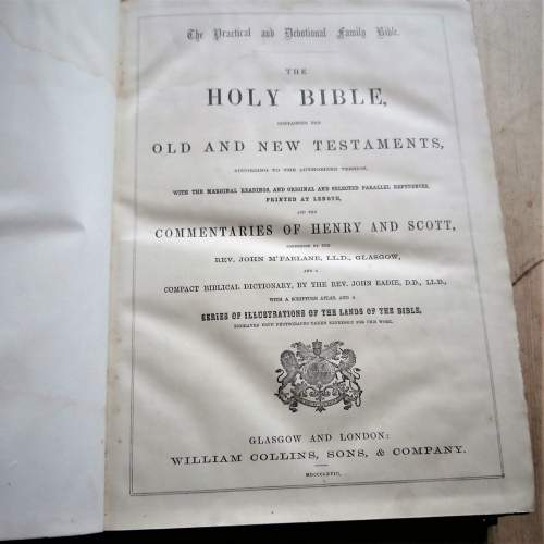 The Holy Bible William Collins Sons and Co. 1868 image-4