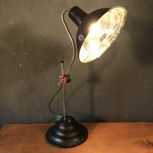 Early Perihel Infrared Heat Lamp Converted into Lovely Desk Lamp