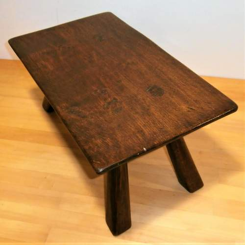 A Quality Handcrafted Oak Rectangular Shaped Stool or Small Table image-2