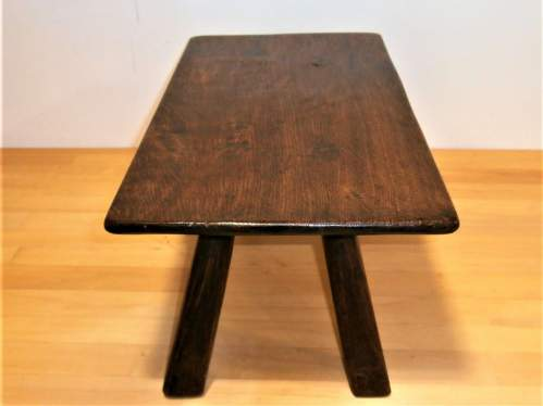 A Quality Handcrafted Oak Rectangular Shaped Stool or Small Table image-3