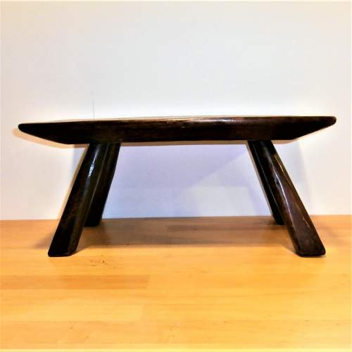 A Quality Handcrafted Oak Rectangular Shaped Stool or Small Table image-1