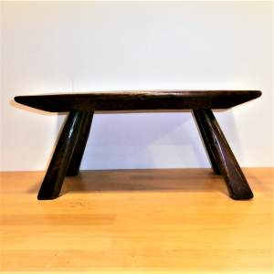 A Quality Handcrafted Oak Rectangular Shaped Stool or Small Table