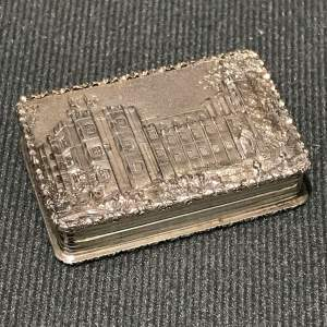 Fine Early Victorian Silver Castle Top Vinaigrette by Nathaniel Mills