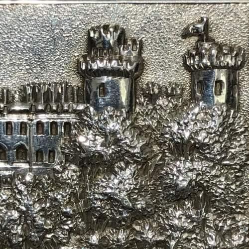 Victorian Silver Castle Top Warwick Castle Snuff Box image-3