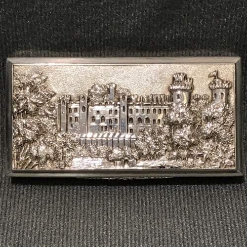 Victorian Silver Castle Top Warwick Castle Snuff Box image-2