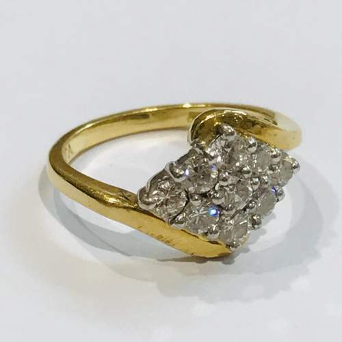 18ct Gold Diamond Cluster Ring image-1