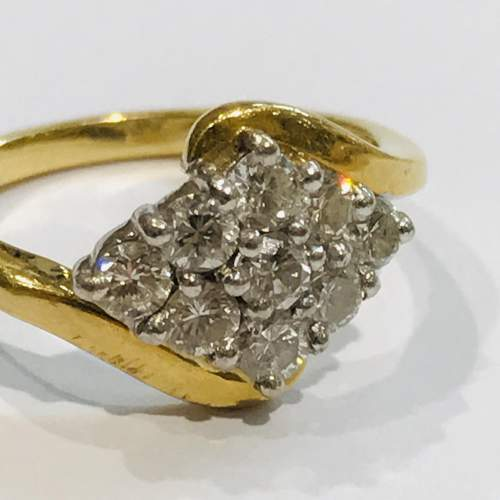 18ct Gold Diamond Cluster Ring image-2