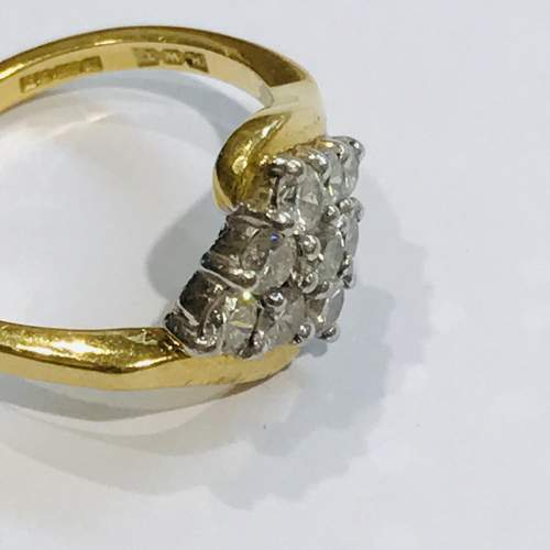 18ct Gold Diamond Cluster Ring image-3