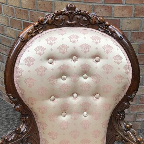 Victorian Walnut Double Ended Chaise Longue image-2