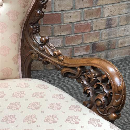 Victorian Walnut Double Ended Chaise Longue image-3