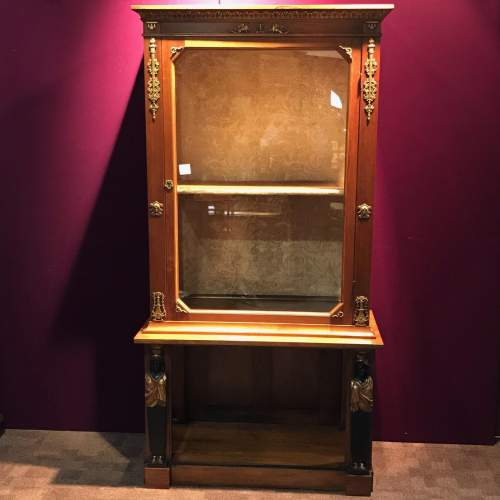 French Empire Period Walnut Two Part Cabinet image-1