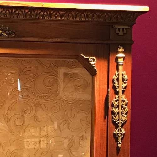 French Empire Period Walnut Two Part Cabinet image-2