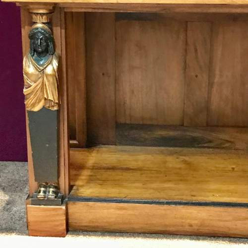 French Empire Period Walnut Two Part Cabinet image-3