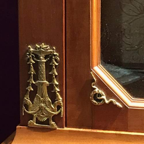 French Empire Period Walnut Two Part Cabinet image-4